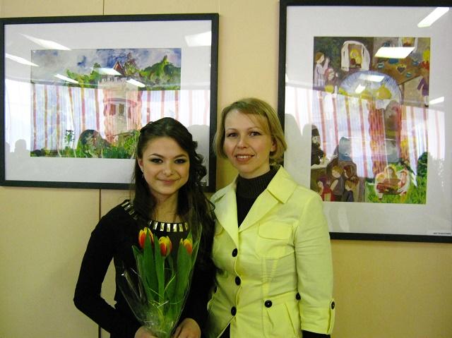 Анастасиия с преподавателем Башун И.И.